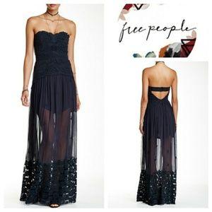 Free People | Monarch Lace Yoke Maxi Dress
